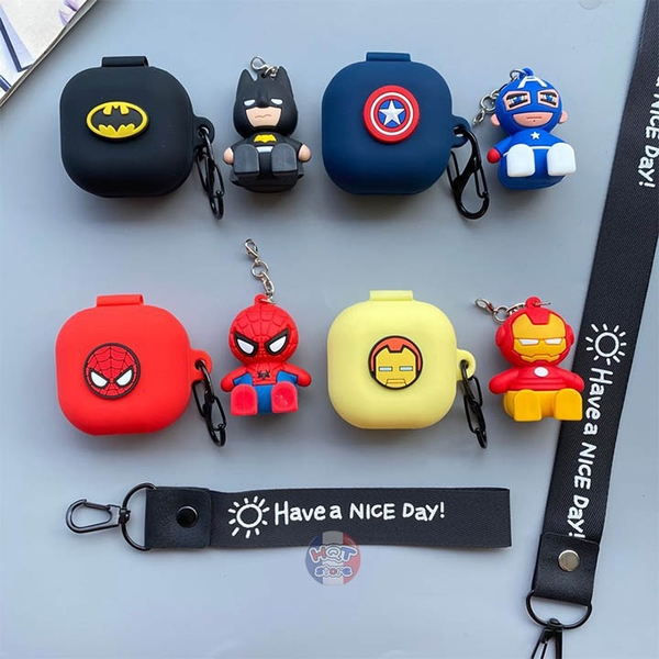 Ốp silicon case Marvel cho tai nghe Galaxy Buds Live (Mẫu 4)