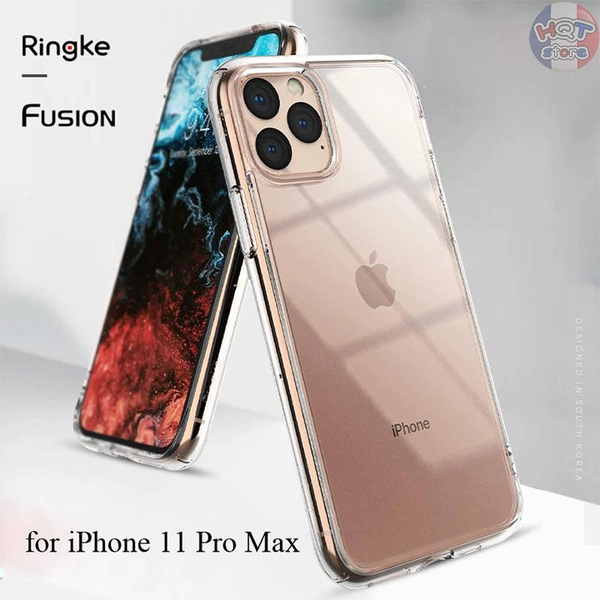 Ốp lưng chống sốc Ringke Fusion cho IPhone 11 Pro Max / 11 Pro / 11