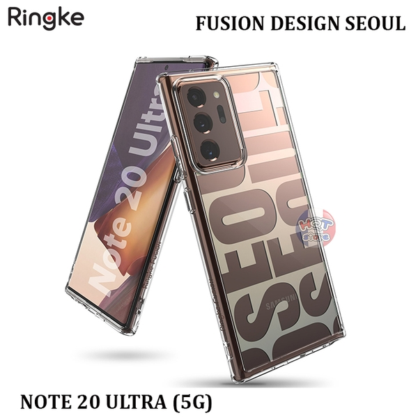 Ốp lưng chống sốc Ringke Fusion Design Seoul cho Samsung Note 20 Ultra
