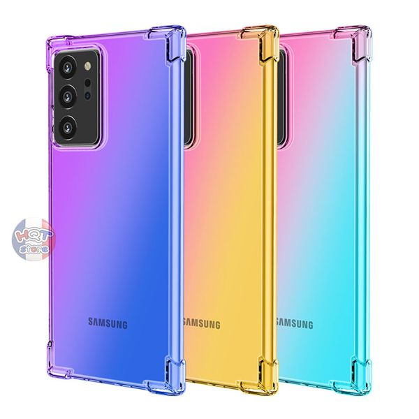 Ốp lưng dẻo trong suốt 7 màu Gradient Note 20 Ultra (5G) / Note 20