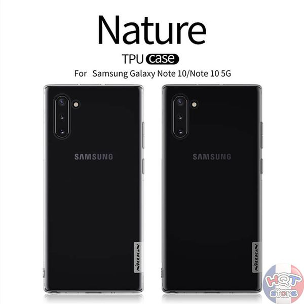 Ốp lưng dẻo trong suốt Nillkin Nature Series cho Note 10 Plus/ Note 10