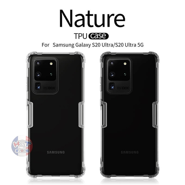 Ốp lưng dẻo trong suốt Nillkin Nature Series Samsung Galaxy S20 Ultra