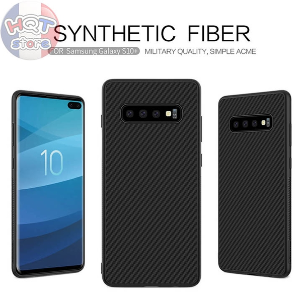 Ốp lưng Nillkin Carbon Synthetic Fiber cho Samsung S10 Plus / S10