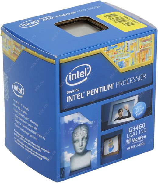 CPU Intel DC G3460 3.5G/3MB/SK1150 Box (Haswell)