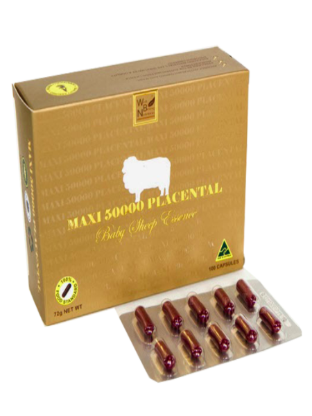 NHAU THAI CỪU MAXI SHEEP PLACENTA (50000MG X 100 VIÊN)
