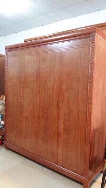 tủ gỗ 4 buồng Tủ Quần Áo 4 buồng gỗ gội   0986218498 ĐỒ GỖ MỸ NGHỆ HẠNH LOAN tủ gỗ 4 buồng