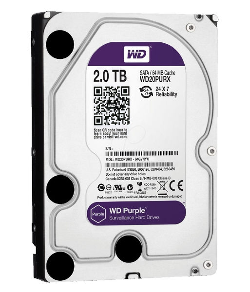 Ổ CỨNG HDD 3.5 INCH WD PURPLE 2TB WD20PURX