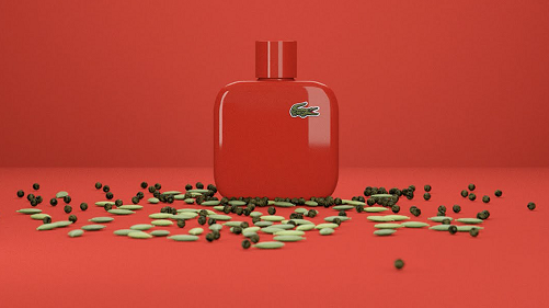 Lacoste Eau de Lacoste L.12.12 Rouge - Energetic EDT Pour Homme 100ml - MADE IN GERMANY.