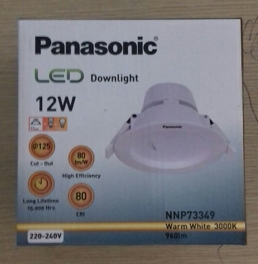 Đèn led downlight Panasonic NNP73359 ( Đèn led Panasonic âm trần 12W )