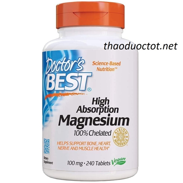 Doctor's Best, High Absorption Magnesium, 240 Tablets