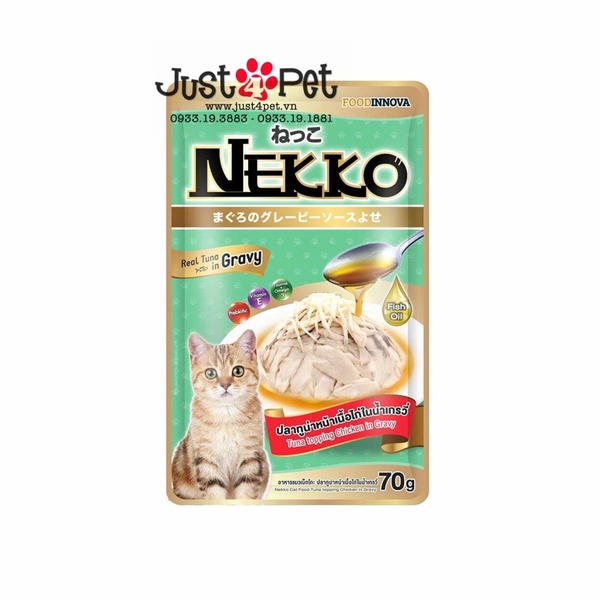 Nekko Tuna topping Chicken in Gravy 70g