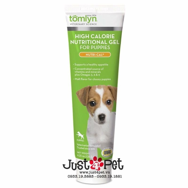 Tomlyn - High Calorie Nutritional Gel for Puppies 120g / Gel dinh dưỡng cho chó con 120g