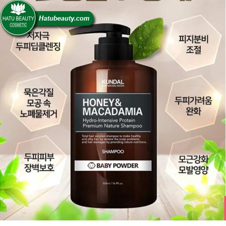 DẦU GỘI [KUNDAL] HAIR SHAMPOO HONEY & MACADAMIA
