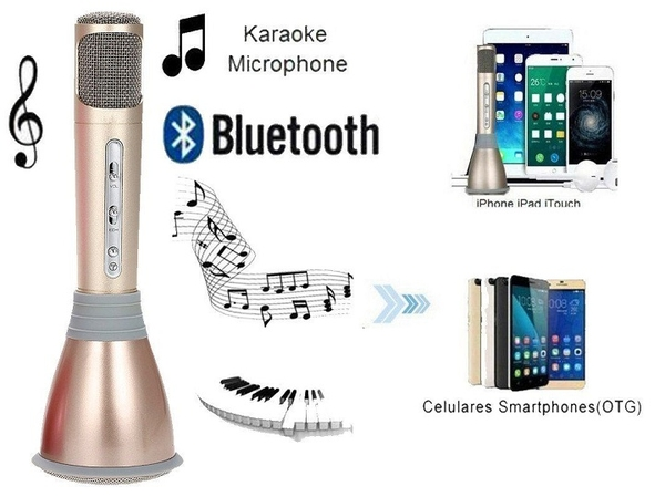 Micro Karaoke Bluetooth kèm loa 3 in 1 k068