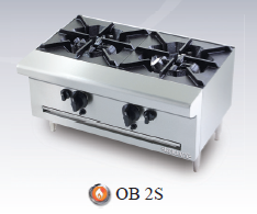Bếp âu 2 họng Berjaya / Open Burner Table Top OB2S