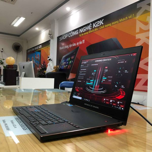 "ASUS GX501IK Intel Core i7-7700HQ, Ram16GB DDR4, 512GB PCIe SSD, Nvidia GeForce GTX 1080 - 8GB, 15.6"" Full-HD 120Hz Ultra-portable, Windows 10 Pro 64-Bit."