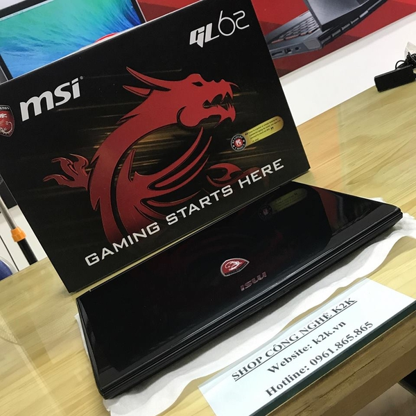 Laptop Gaming MSI GL62 Intel Core i7 7700HQ, Ram 8GB, 1TB HDD, Geforce GTX1050Ti 4GB DDR5, 15.6 INCH Full HD