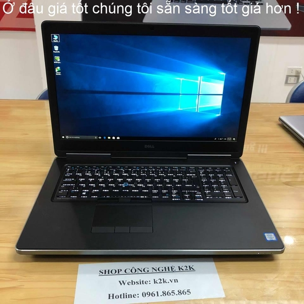 DELL PRECISION M7710 / I7-6920HQ / 16GB RAM / 128GB NVME M2 SSD + 1T HDD / AMD W5170M  / 17.3 INCH IPS FULL HD