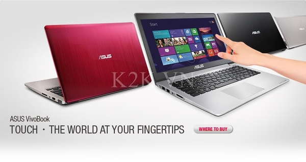 Asus X202E-CT141H (Intel Celeron 847 1.1GHz, 2GB RAM, 500GB HDD, VGA Intel HD Graphics 3000, 11.6 inch Touch Screen, Windows 8)