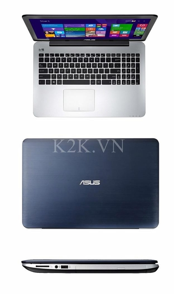Asus K455LA-WX071D (Intel Core i3-4030U 1.9GHz, 2GB RAM, 500GB HDD, VGA Intel HD Graphics 4400, 14 inch, DOS)