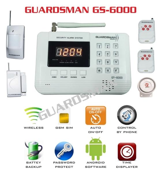 Hệ thống báo trộm không dây GUARDSMAN GS-6000