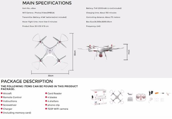 Máy bay Flycam Syma X8SW