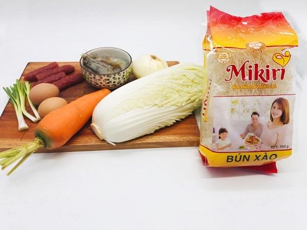 Bún gạo xào Mikiri - Thực phẩm khô dạng sợi tiện dụng