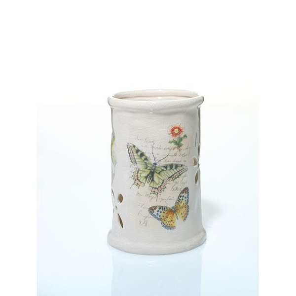 Che Nến Trụ Ceramic Butterfly