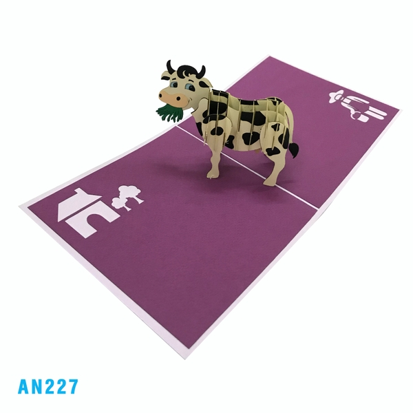 Cow 3d Pop Up Greeting Card