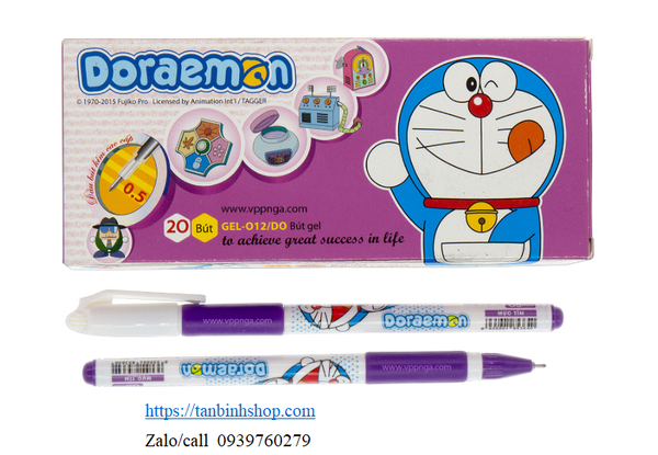 Viết Gel-012/DO (Doraemon) _(20c/h), tím