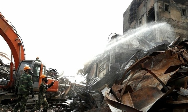 More decontamination needed at Hanoi warehouse fire site