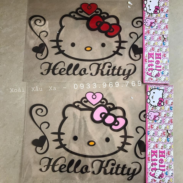 DECAL CHỮ KITTY
