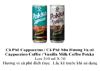 Pokka Cappuccino/Milk Vanilla Coffee 240ml