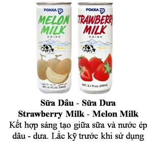 Pokka Melon and Strawberry Milk 240ml