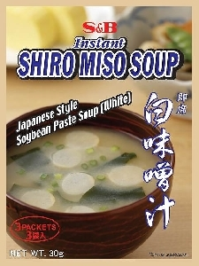 S&B shiro miso soup - quick serve - 3 sachets