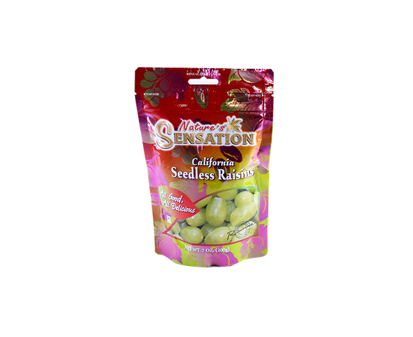 "NHO KHÔ ""NATURE'S SENSATION"" CALIFORNIA SEEDLESS RAISINS (200gr)"
