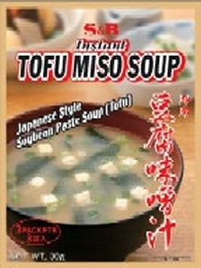 S&B Tofu miso soup - quick serve - 3 sachets