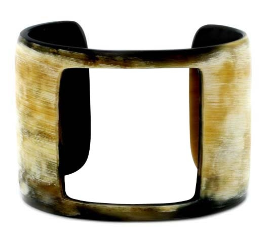Horn cuff bracelet with hole