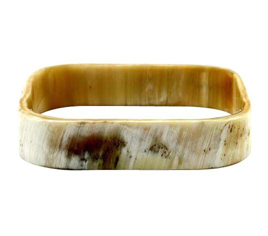 Natural square horn bangle bracelet