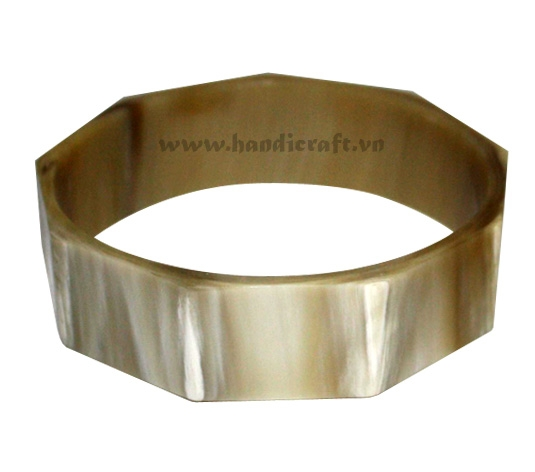 Multi angles horn bangle bracelet