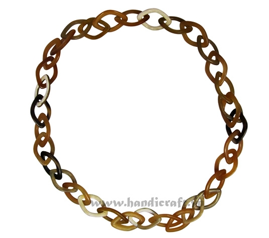 Oval horn chain necklace