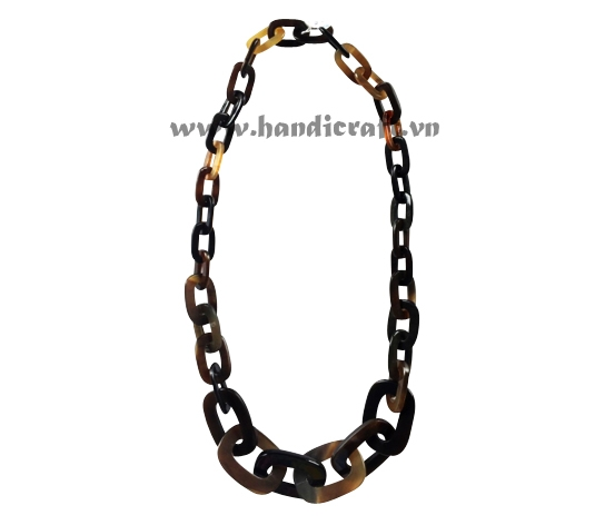Dark oval horn necklace