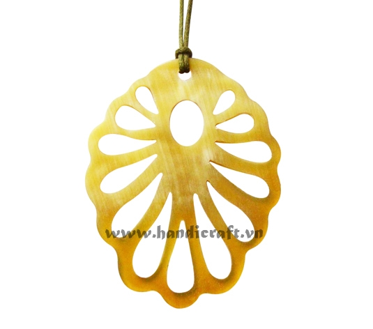 Yellow horn pendant