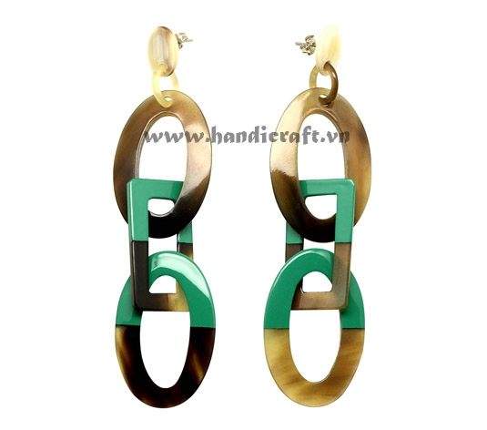 Horn & Lacquer earrings