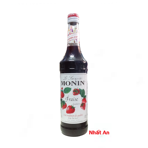 Siro Monin Strawberry 700ml/ Siro vị dâu Monin 700ml