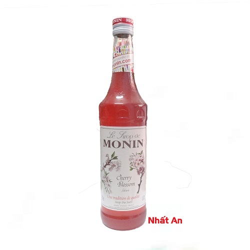 Siro Monin Cherry Blossom 700ml/ Hoa anh đào Monin 700ml
