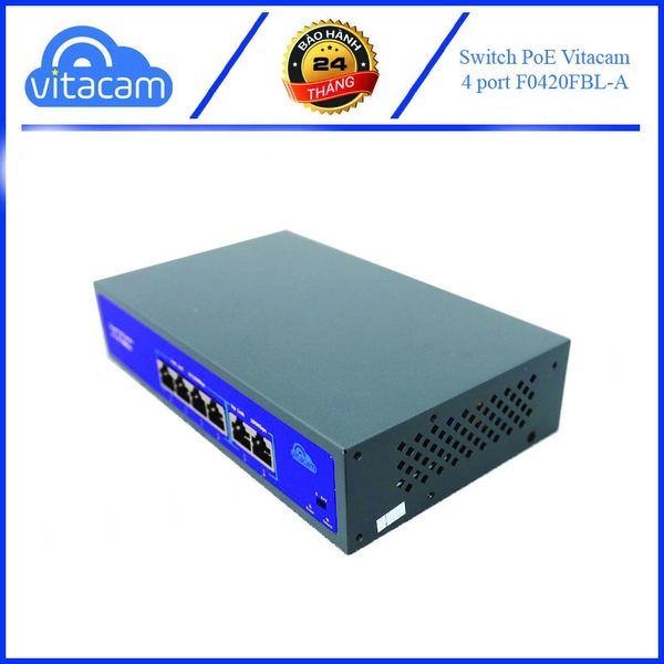 Bộ Switch PoE Vitacam 4+2 port 10/100Mbp