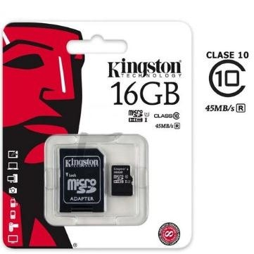 Thẻ nhớ Kingston Micro SDHC 16GB class 10, UHS-I, 45MB/s
