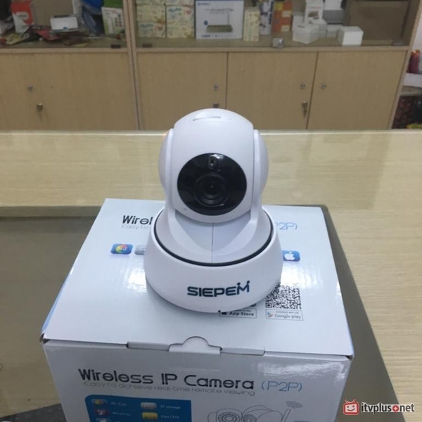 Camera IP Wifi Mini SIEPEM S6219J - 720P Xoay 360 độ.