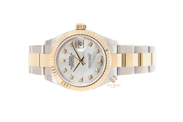 Đồng Hồ Rolex Lady-Datejust 28 279173 Mặt Vỏ Trai Trắng Dây Đeo Oyster